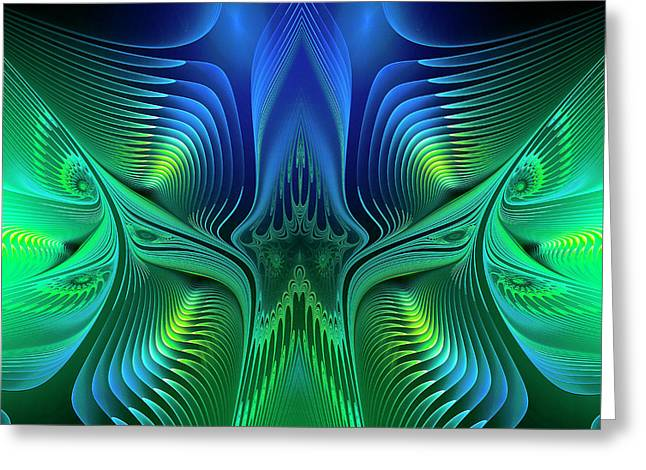 Greeting Card featuring the digital art Line Art by Jutta Maria Pusl