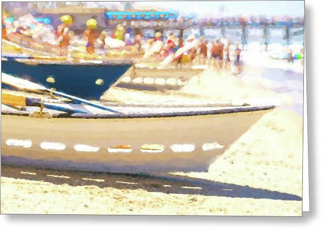 Line Em Up Lifeboat Race Prep Watercolor Greeting Card