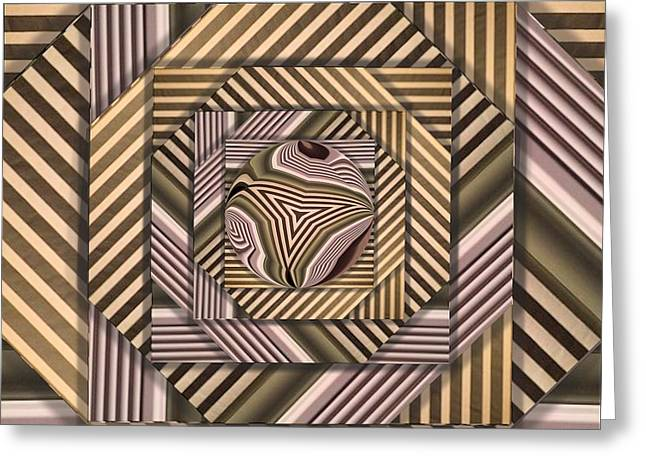 Greeting Card featuring the digital art Line Geometry by Ron Bissett
