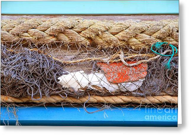 Greeting Card featuring the photograph Line Of Debris by Stephen Mitchell