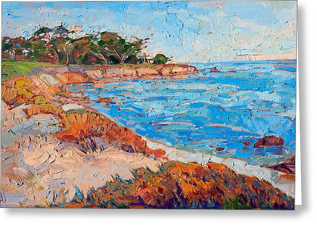 Greeting Card featuring the painting Line Of Monterey by Erin Hanson
