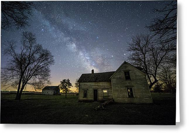 Linear Greeting Card by Aaron J Groen