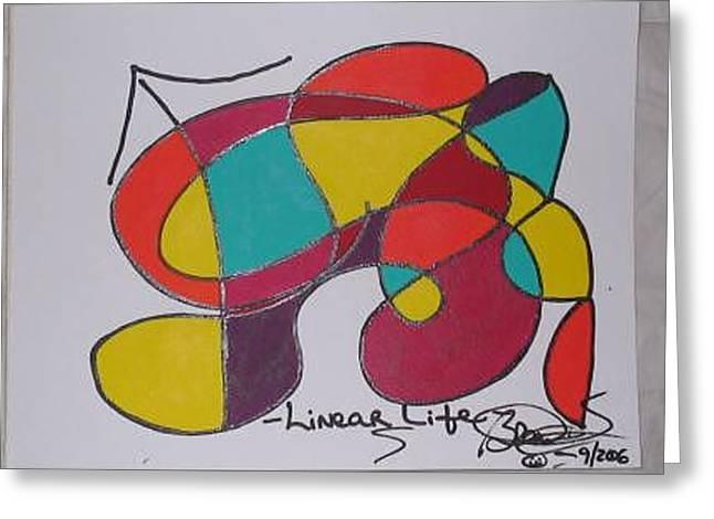 Linear Life Greeting Card by Brenda Basham Dothage