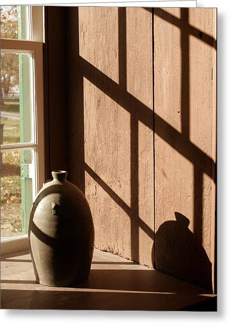 Linear Shadows Greeting Card by Angie Bechanan