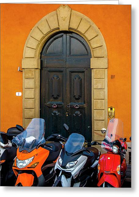 Lined Up In Florence Greeting Card
