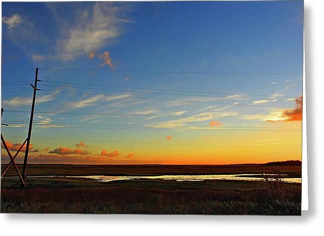 Lineman's Landscape Greeting Card by Laura Ragland