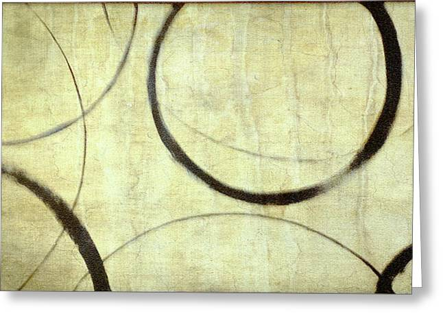 Linen Ensos Greeting Card by Julie Niemela