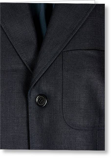 Linen Jacket Detail Greeting Card by Dutourdumonde Photography