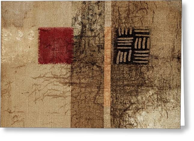 Linen Weave Greeting Card by Carol Leigh