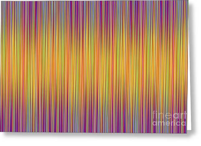 Greeting Card featuring the digital art Lines 102 by Bruce Stanfield