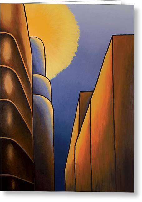 Montreal Paintings Greeting Cards - Lines and Curves Greeting Card by Duane Gordon