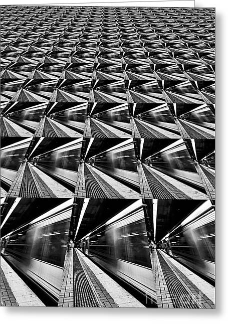 Lines Angles Abstract By Kaye Menner Greeting Card