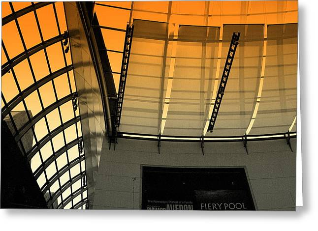 Greeting Card featuring the photograph Lines Curves And Color by Laura DAddona