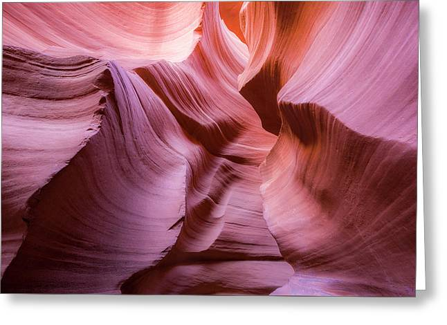 Lines In The Canyon Greeting Card