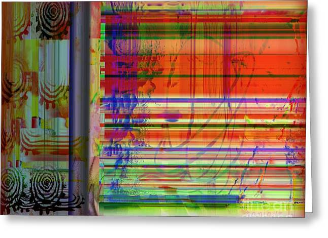 Lines Of Illusion Greeting Card by Fania Simon