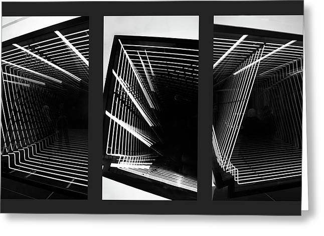 Lines Of Light Triptych Greeting Card