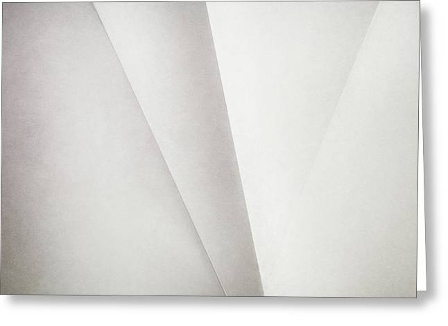 Lines On Paper Greeting Card by Scott Norris