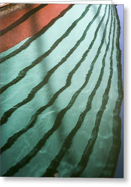 Lines On The Water Greeting Card