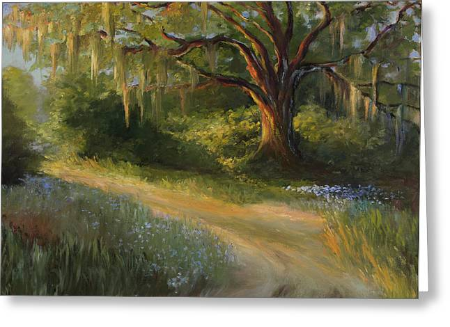 Lingering Light Greeting Card by Jane Woodward