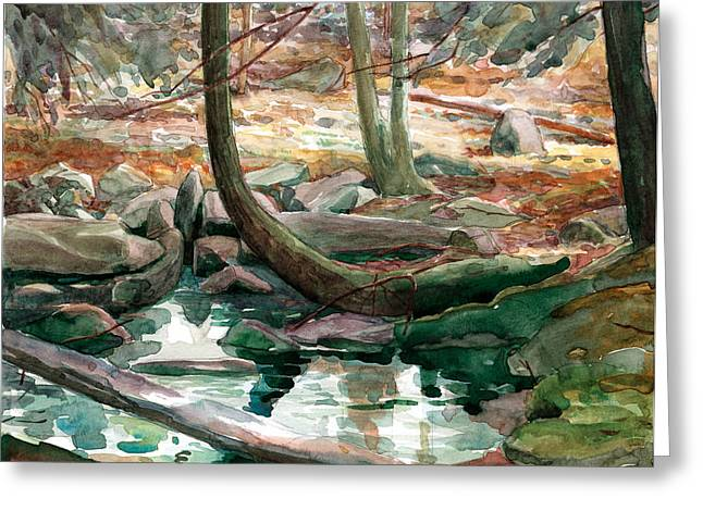 Lingle Stream Greeting Card by Jeff Mathison