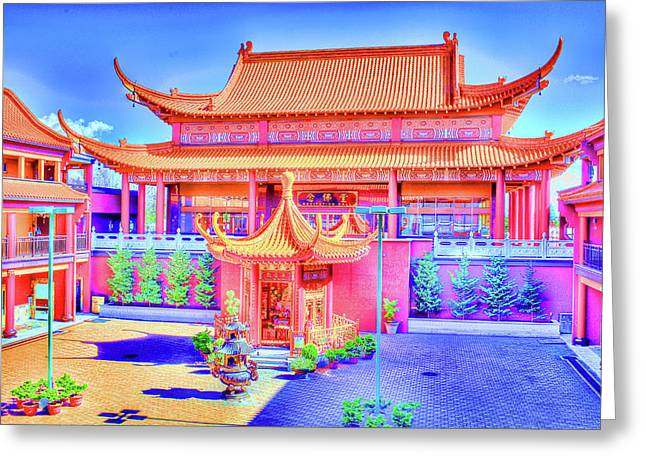 Lingyen Mountain Temple 12 Greeting Card by Lawrence Christopher