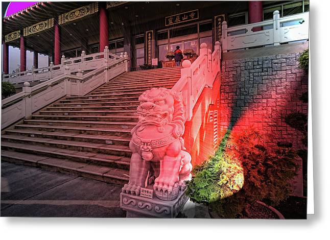 Lingyen Mountain Temple 31 Greeting Card by Lawrence Christopher