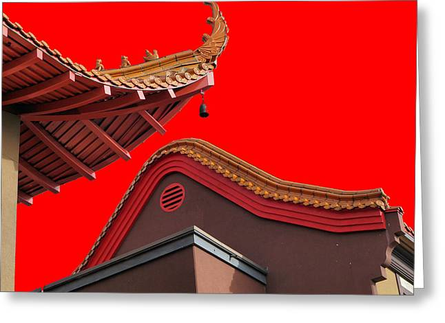 Lingyen Mountain Temple 38 Greeting Card by Lawrence Christopher