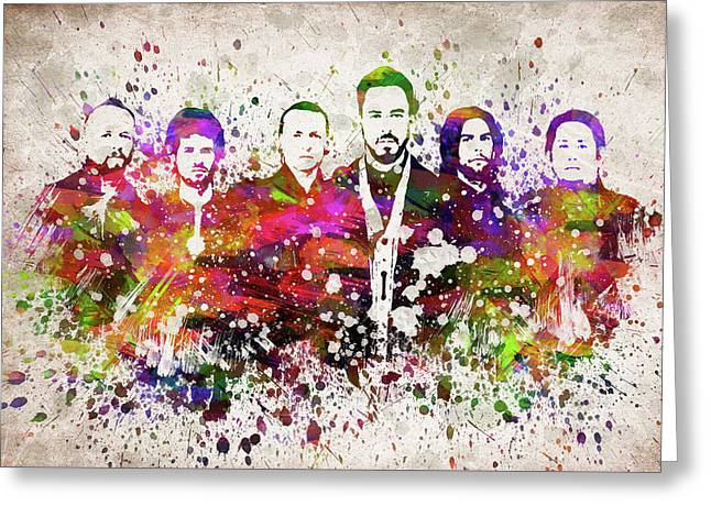 Linkin Park In Color Greeting Card