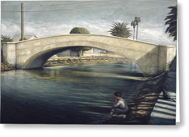 Linnie Canel Venice  Greeting Card by Lance Anderson