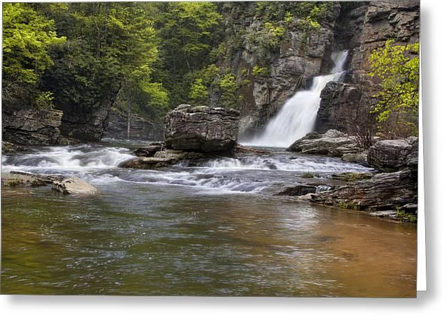 Linville Falls Basin Greeting Card