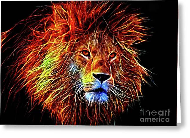 Lion 12818 Greeting Card