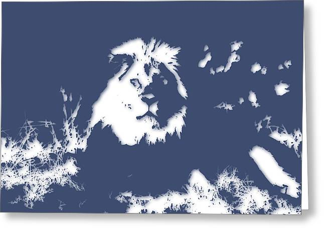 Lion 2 Greeting Card by Joe Hamilton