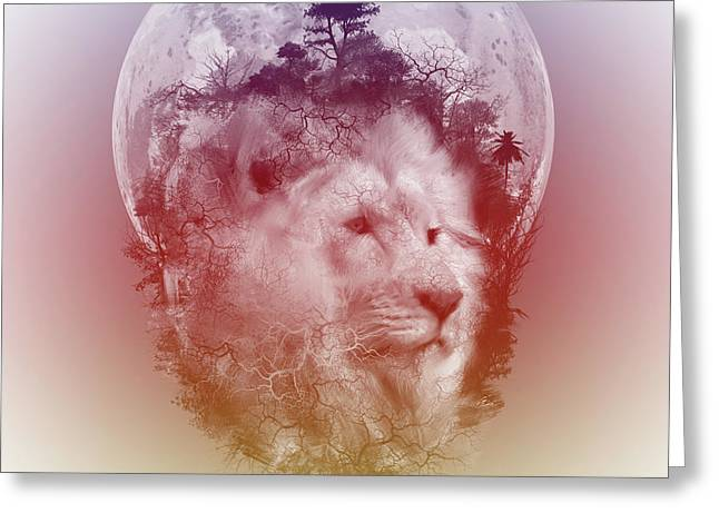 Lion 3 Greeting Card