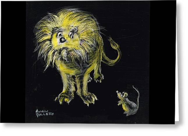Lion And The Mouse Greeting Card