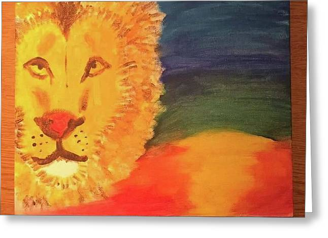 Lion By Sharday Greeting Card