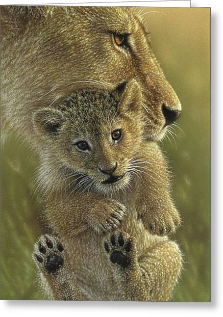 Lion Cub - Mother's Pride Greeting Card
