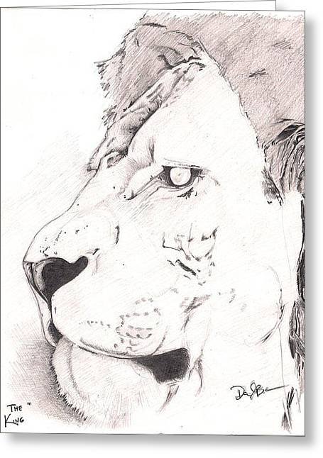 Lion Greeting Card by Darryl Barnes