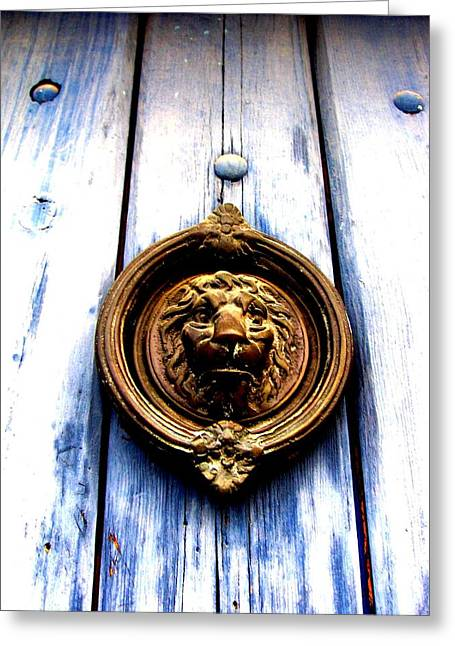 Lion Dreams Greeting Card