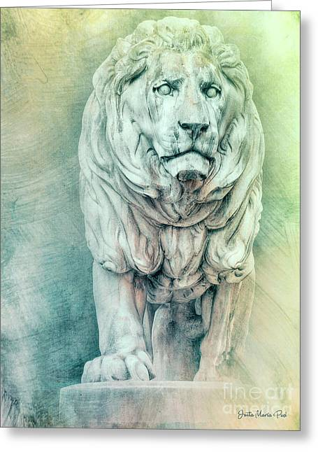 Lion For Eternity Greeting Card