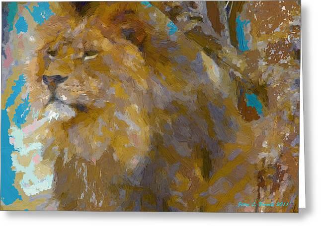Lion Greeting Card