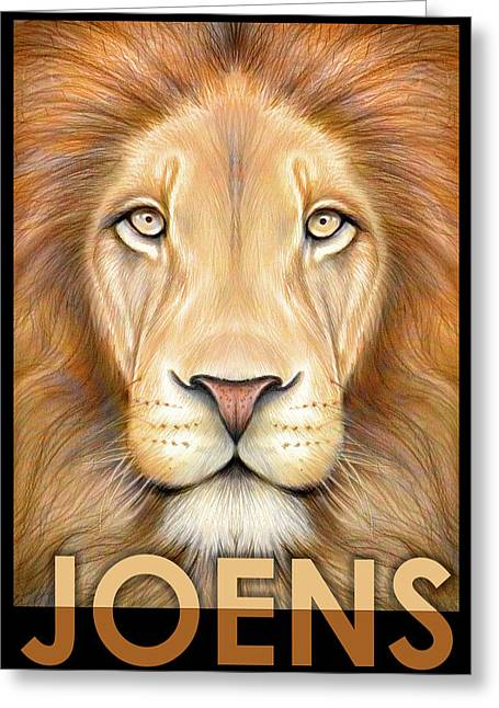 Lion Joens Greeting Card