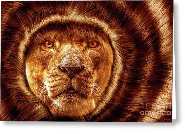 Lion Lady   -1 Greeting Card by Prar Kulasekara