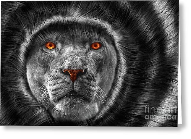 Lion Lady   -3 Greeting Card by Prar Kulasekara