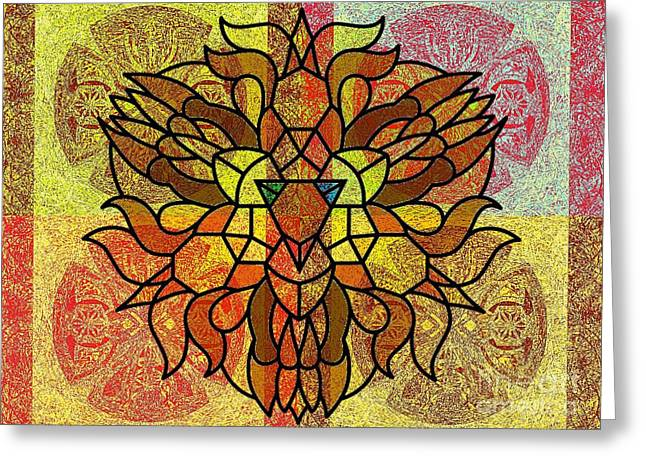 Lion Legacy Perfected Unity Greeting Card by Trent Jackson