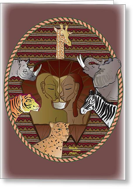 Lion Mutation Greeting Card