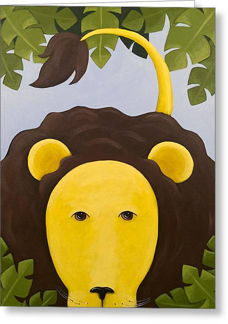 Lion Nursery Art Greeting Card by Christy Beckwith