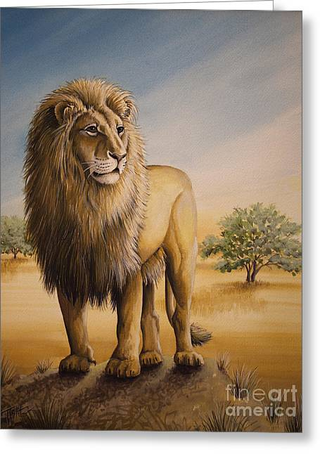 Lion Of Africa Greeting Card