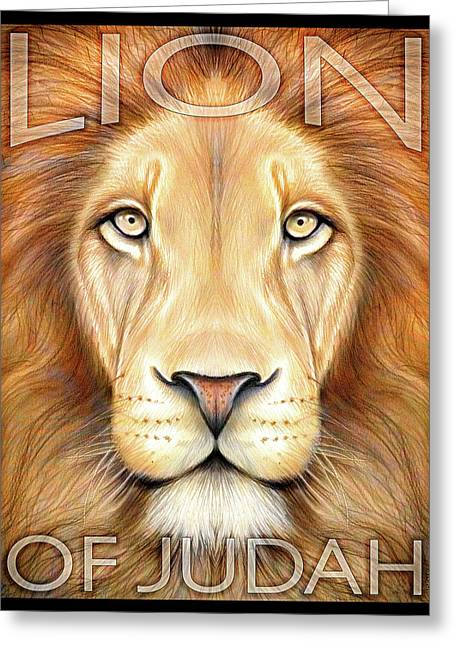 Lion Of Judah Greeting Card by Greg Joens