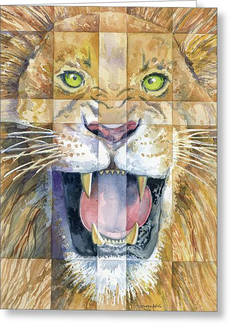 Lion Of Judah Greeting Card by Mark Jennings
