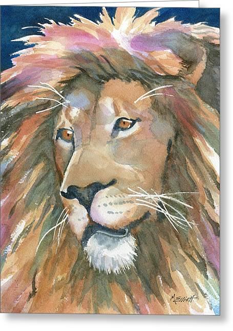 Lion Of Judah Greeting Card by Marsha Elliott